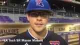 Louisiana Tech senior first baseman Mason Mallard reflects on win versus No. 15 LSU Tuesday night at Alex Box Stadium.