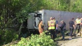 It took more than an hour to extricate a driver from a truck wreck on I70 Wednesday morning.