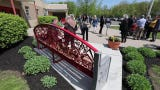 Two commemorative benches by  sculptor Eric David Laxman were dedicated during a ceremony at the Rockland County Fire Training Center in Pomona May 8, 2019. The benches that honor Rockland's firefighters and emergency responders, were funded by the Rockland County Art in Public Places Committee.