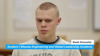 Students at Wausau Engineering and Global Leadership Academy charter high school accomplish much of their learning by doing projects.