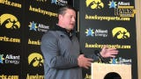 Iowa offensive coordinator Brian Ferentz was asked about how much the Hawkeyes used two tight-end sets (aka Hockenson/Fant) in 2018, and he responds.