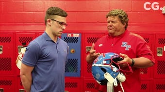 Zane Trace Head coach Don Kunz talks about the advantages of the new VICIS helmets for the 2019 football season.