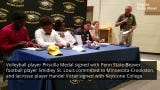 Five athletes signed letters of intent to play their sports in college at Naples High's spring signing ceremony on May 9, 2019.