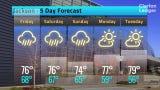 Jackson Weather Forecast for Thursday, May 9, 2019.