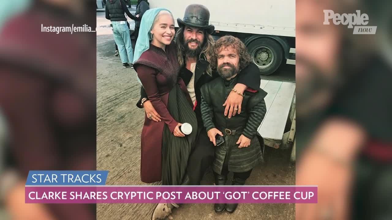Game Of Thrones Starbucks Coffee Cup Emilia Clarke Mocks Gaffe