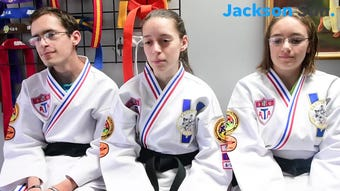 2nd degree black belts Joshua, Hannah, and Esther Gatti took time out from their class to talk to The Jackson Sun about their brother, Matthew.