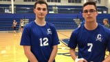 Chillicothe High School boys volleyball won 3-0 over Miamisburg on Thursday. Seniors David Hirsch and Ricky Villarreal discussed the win here.