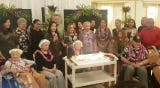The island's most oldest elders have Happy Birthday sung to them during a celebration on May 9, 2019.