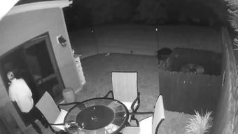 Hanover Borough Police search for man seen in video tampering with door on May 10, 2019, early in the morning.