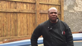 The beer garden features an eclectic menu by Food Network chef and city native Aaron McCargo and cocktails that pay homage to Camden's history.