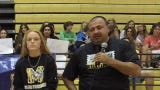 Sports reporter Jon Santucci sat down with Martin County High School flag football coach Jeff Padgett, seniors Elise Liggett and Lizzy Spears on Friday, May 10, 2019, during PrepZone on the Road at MCHS.