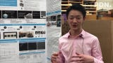 Daniel Kang, a junior at John F. Kennedy High School, on his ongoing experiment creating electrically conductive paint presented at the science fair.