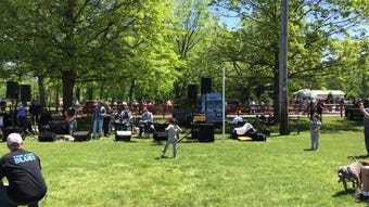 Hundreds of people came out to White Oak Park in Branchburg on Saturday, May 11 for the Just Jersey Food Truck Festival.