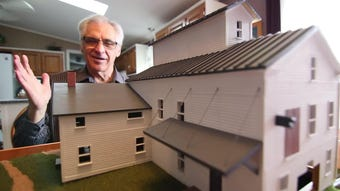 A scale model of Brighton's mill, built by Genoa Twp. resident Michael Berendt will be displayed at Brighton Area Historical Society.
