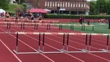 U-E's Anya Alfonsetti, shown here in a prelim, went on to win the 100m hurdles in 15.65.