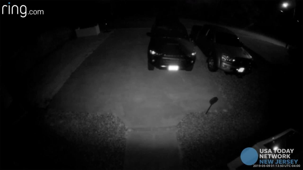 What is that? Security video captures something strange outside Waretown man's home