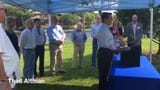 Rep. Thad Altman speaks at event marking completion of muck dredging in Eau Gallie River
