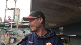 Former Tiger Don Kelly, now the Houston Astros first base coach, talks about his time in Detroit. Filmed May 13, 2019.