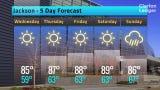 Jackson Weather Forecast, Tuesday, May 14
