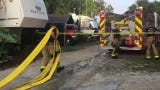 A person was injured in a manufactured home fire off U.S. 1 in Palm Shores, just north of Pineda Causeway.
