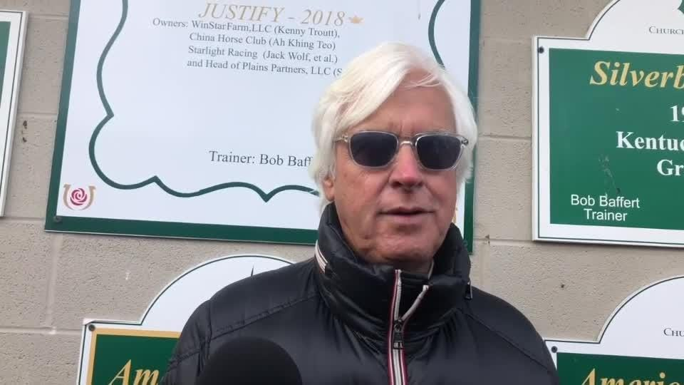 Bob Baffert says Improbable looks good for Preakness