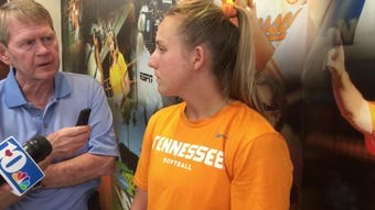 Tennessee third baseman Chelsea Seggern discusses the Lady Vols' in the NCAA Tournament.