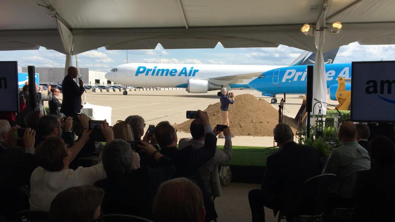 Jeff Bezos at Kentucky groundbreaking: Amazon shares plans