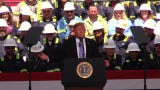 Hear President Donald Trump's address to workers at the Cameron Liquified Natural Gas plant near Lake Charles.