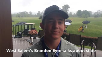 West Salem sophomore Brandon Eyre talks about placing fifth at the OSAA Class 6A state golf tournament.