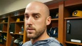 Brewers 3B Travis Shaw talks about his wrist injury that led to Keston Hiura's call-up.