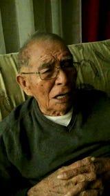 Navajo Code Talker Fleming Begaye Sr. sings the Marines' Hymn on Feb. 1, 2018. Begaye died May 10, 2019.