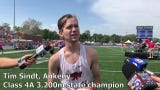 Ankeny's Tim Sindt wins Class 4A state title in boys' 3,200-meter run.