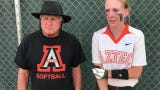 Aztec coach Roy Johnson and senior Alanna Larkins talk about their 10-7 win over Los Lunas on May 16, 2019.