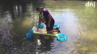 Fifth grade students get hands-on learning, and principal hopes he doesn't have to get wet.