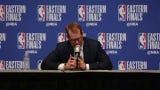 Toronto Raptors head coach Nick Nurse discusses Ersan İlyasova and Bucks bench