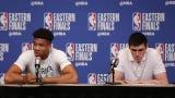 Milwaukee Bucks Giannis Antetokounmpo talks team chemistry in the postseason