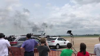 Tora! Tora! Tora! performs a reenactment of the bombing at Pearl Harbor during the 2019 Barksdale air show on Saturday, May 18, 2019.