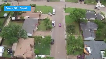 Highlights of Abilene Police Department drone view of Willow Springs nursing home and other areas damaged by storm on Saturday, May 18, 2019.