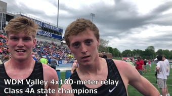 West Des Moines Valley wins the 4x100-meter relay — and the Class 4A state track team title.