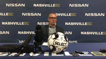 Nashville SC coach Gary Smith and defender Justin Davis discuss the 1-1 draw against Charlotte Independence