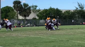 Treasure Coast defeated Glades Central and Boyd Anderson in the 4th Annual Palm Beach Lakes Spring Football Extravaganza