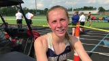 Lancaster's Elise Johnson showed a lot of grit and determination after she lost her shoe during the 3,200 and still finished 2nd in district meet.