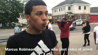 Interview with witness who videotaped weekend arrest in Dover, the video showing an officer punching a suspect in the face while pinned to the ground.