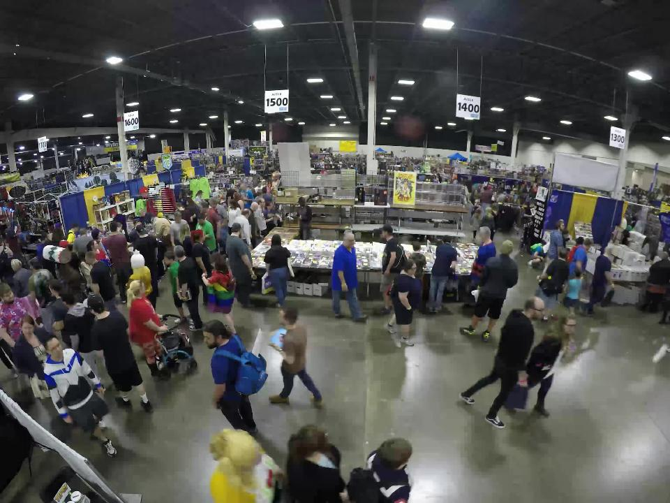 Timelapse from third day of Motor City Comic Con