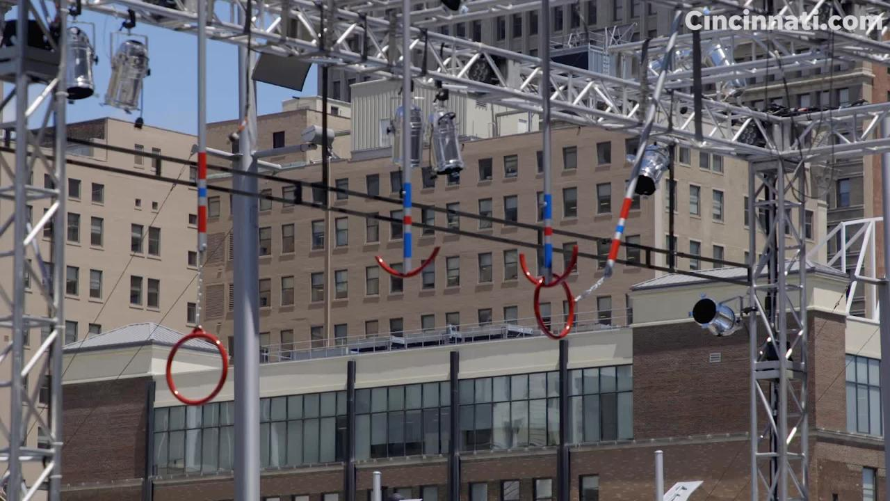 Walk-on information for 'American Ninja Warrior' in Cincinnati