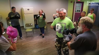 The Rock Steady Boxing class at Olivedale Senior Center is designed to help students with Parkinson's disease. However, the class is open to everyone.