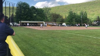 Hannah Aton of Susquehanna Valley saved a run with a diving catch in a 2-1 loss to Corning in a STAC softball semifinal May 20, 2019 at Corning.