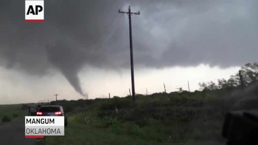 Multiple funnel clouds spotted in Oklahoma