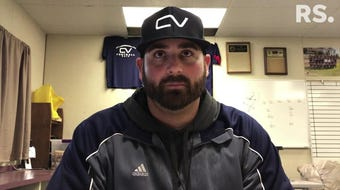Aaron Richards became the Falcons head coach in April.