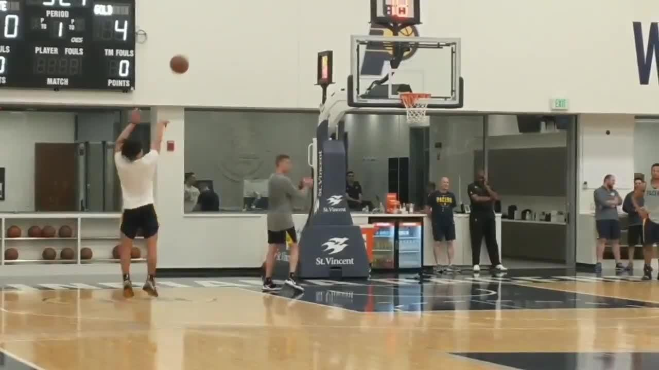 Purdue star Carsen Edwards works out for Pacers